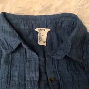 Forever 21 size S blue long tunic